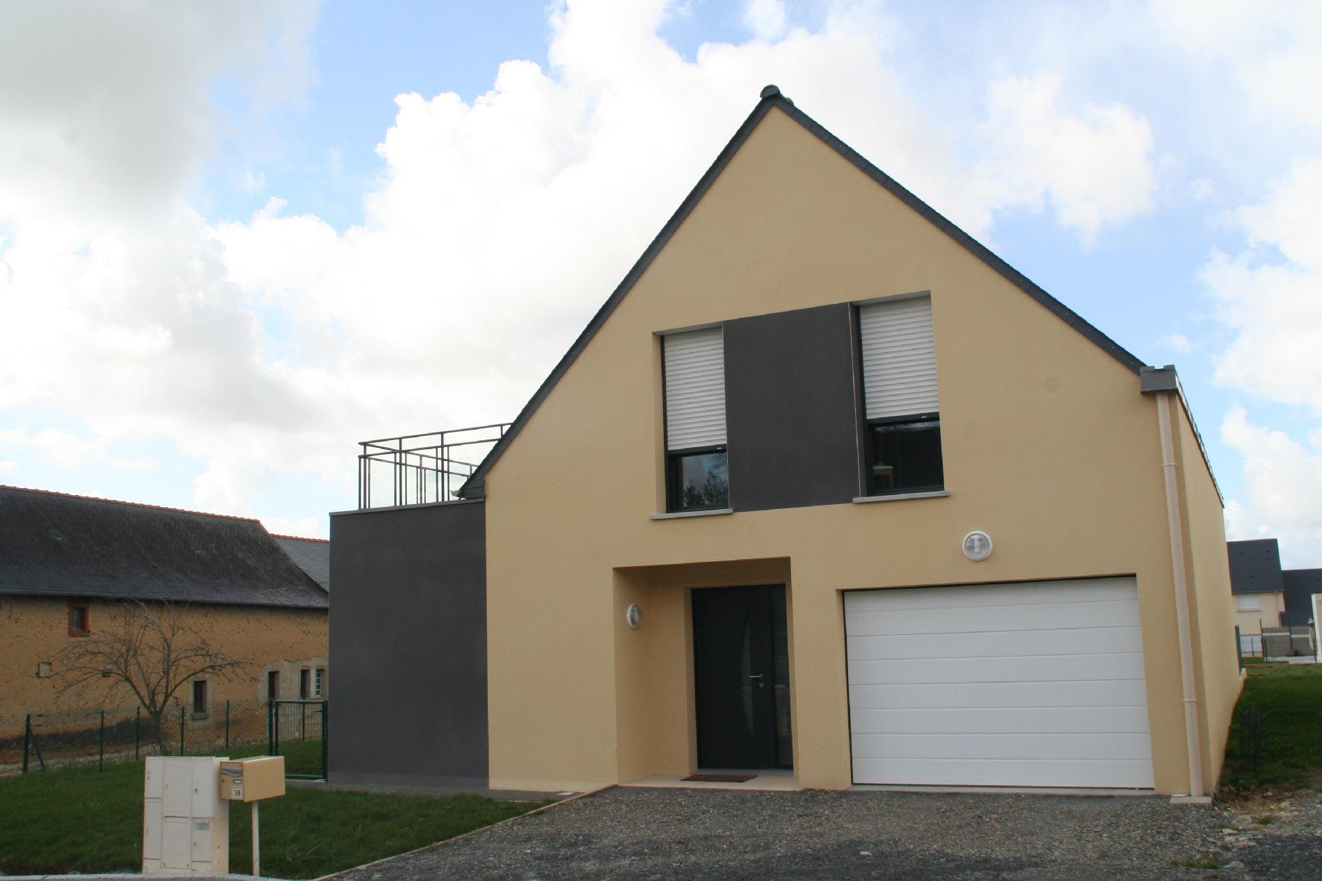 """Jouanny Architecte Maison traditionnelle """"Coteaux de Claireville"""". Gévezé"""