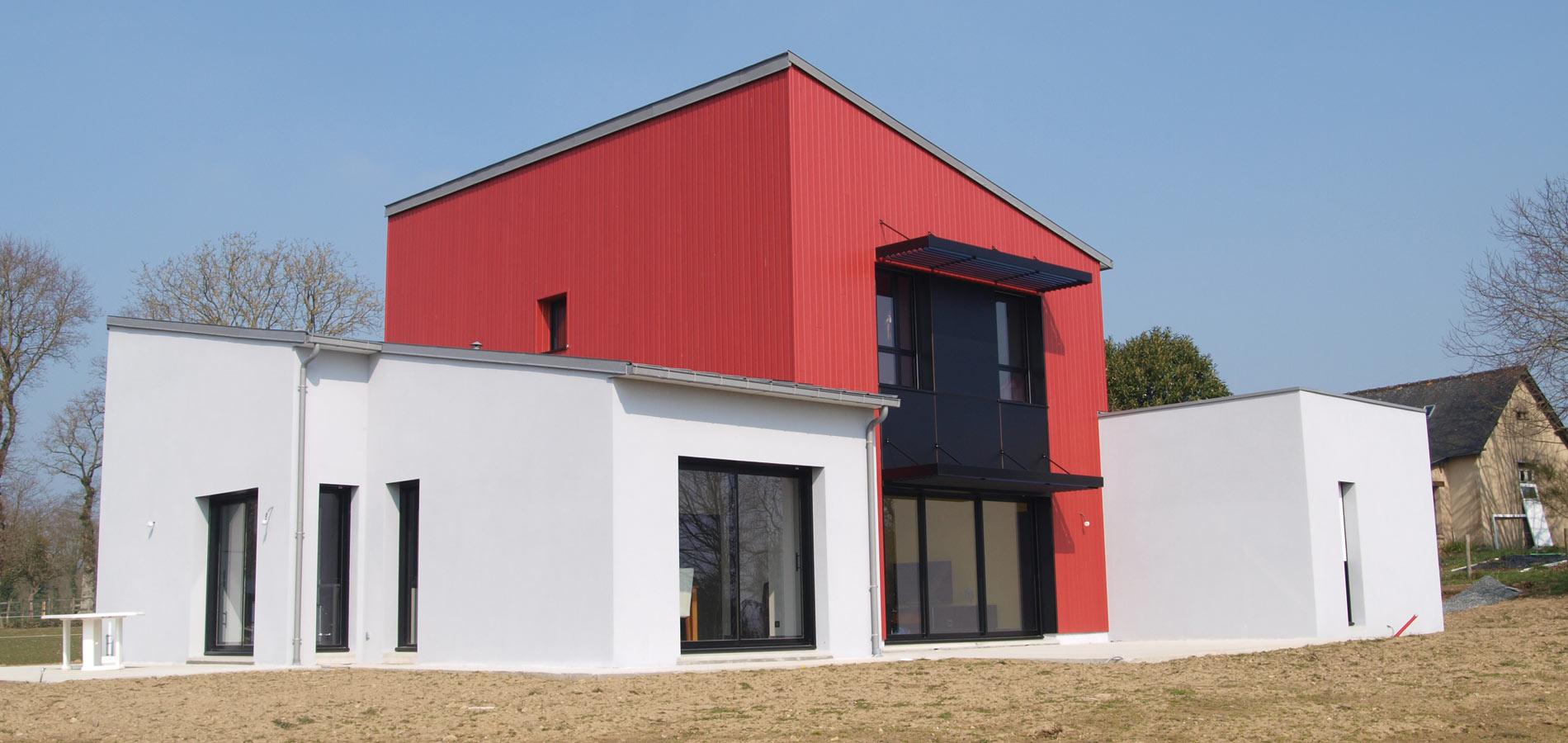 """Jouanny Architecte Maison contemporaine """"Riniac""""_1. Combourg"""