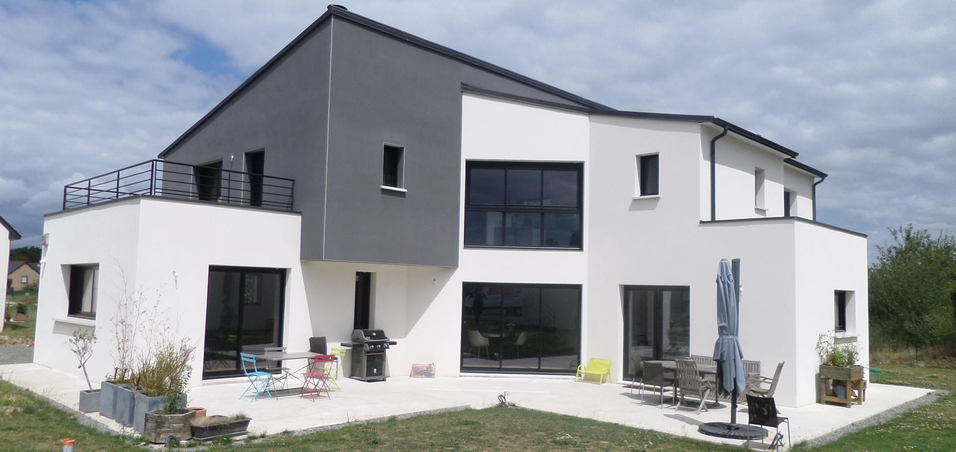 Mezzanine bruno jouanny architecte for Maison contemporaine toit monopente