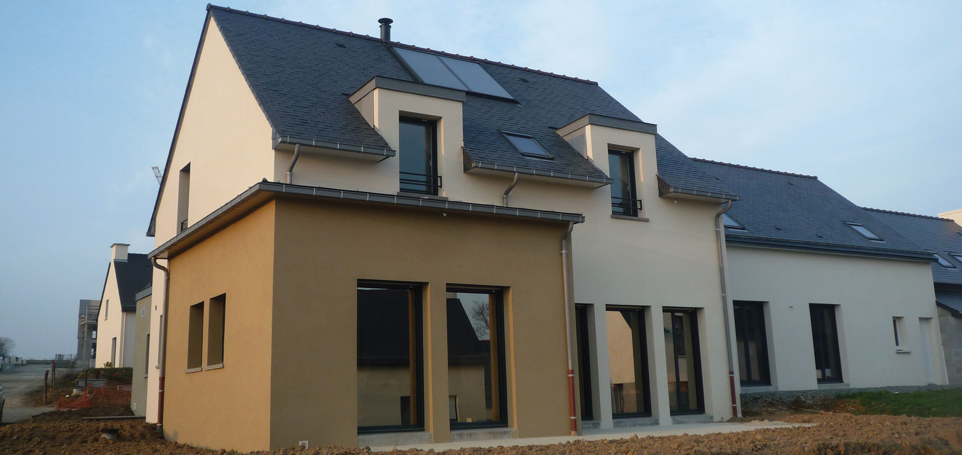 """Jouanny Architecte Maison traditionnelle """"La Croix Cormillé"""". Parthenay-de-Bretagne"""