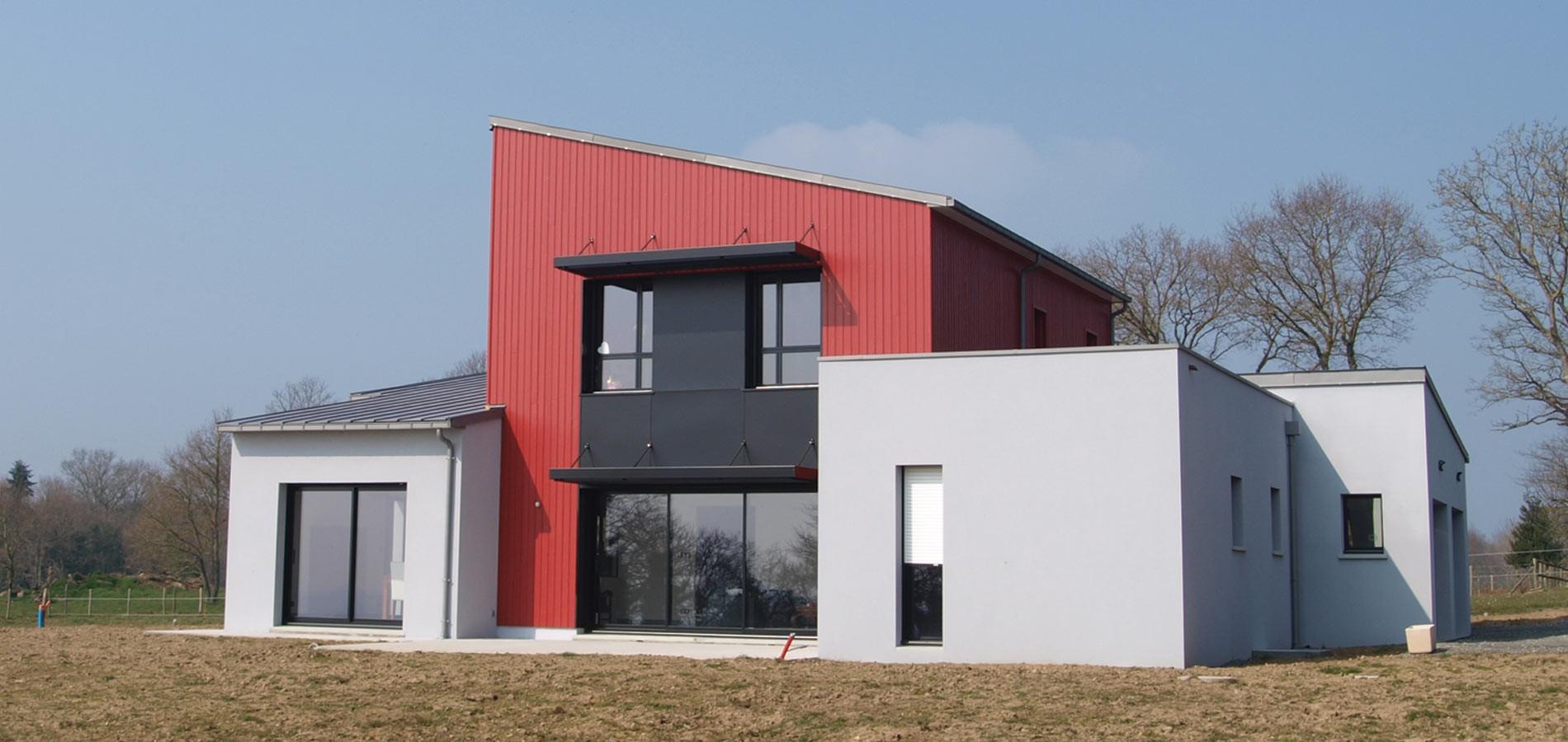 Toit monopente bruno jouanny architecte for Maison contemporaine toit monopente