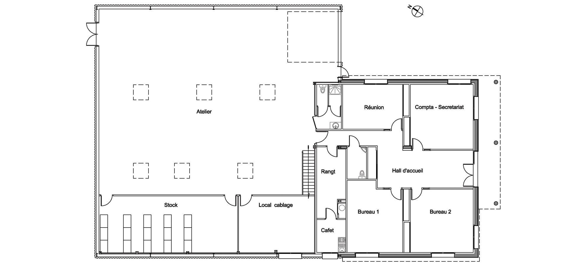 noyal chatillon b timents d 39 entreprise neuf bruno jouanny architecte. Black Bedroom Furniture Sets. Home Design Ideas
